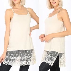 30% OFF 2/MORE S,M,L,XL Long Length Lace Hem Cami